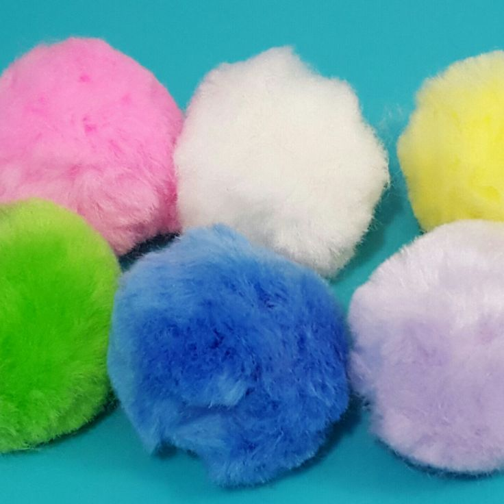 "XXL 2"" Pastel Pompoms - So Soft"