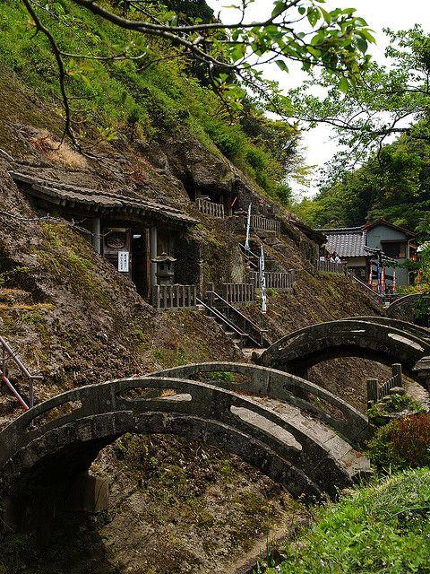 Ancient bridges by utoutokumasan.   Oda-shi, Shimane-ken, Japan