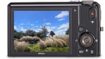 Cámara semiprofesional Nikon S9050 (trasera)