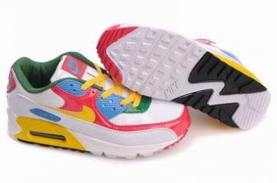 Nike Air Max 90 zapatillas de color rojo / amarillo / blanco http://www.esnikerun.com/
