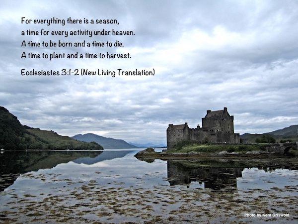 Time - Ecclesiastes 3:1-2 | Inspirational scripture, Time ...