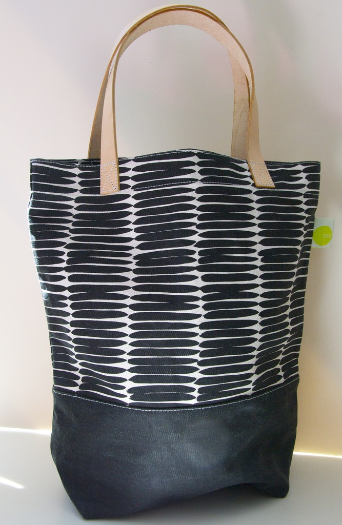 See Design — Leather Handle Square Tote