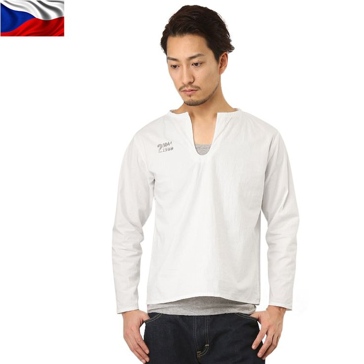 http://item.rakuten.co.jp/auc-waiper/slt092406105/ 実物 新品 チェコ軍 1970年代スリーピングシャツ ホワイト  #ミリタリーセレクトショップWIP #men's #メンズ #MILITARY #T-SHIRT #Tシャツ #長袖 #longsleev