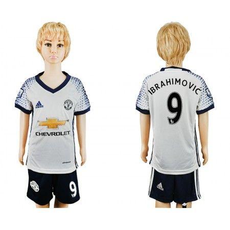 Manchester United Fotbollskläder Barn 16-17 Zlatan #Ibrahimovic 9 TRödjeställ Kortärmad,248,15KR,shirtshopservice@gmail.com