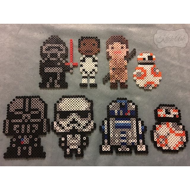 Star Wars VII perler beads by kiick_ash