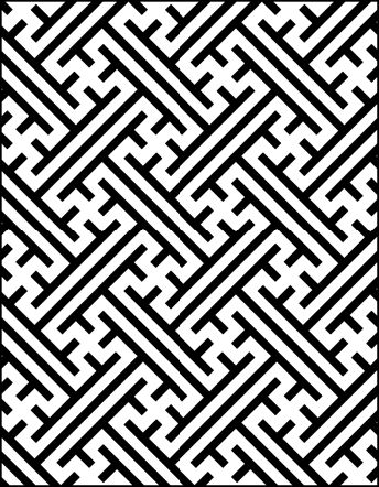 Traditional Japanese pattern by stencil library.