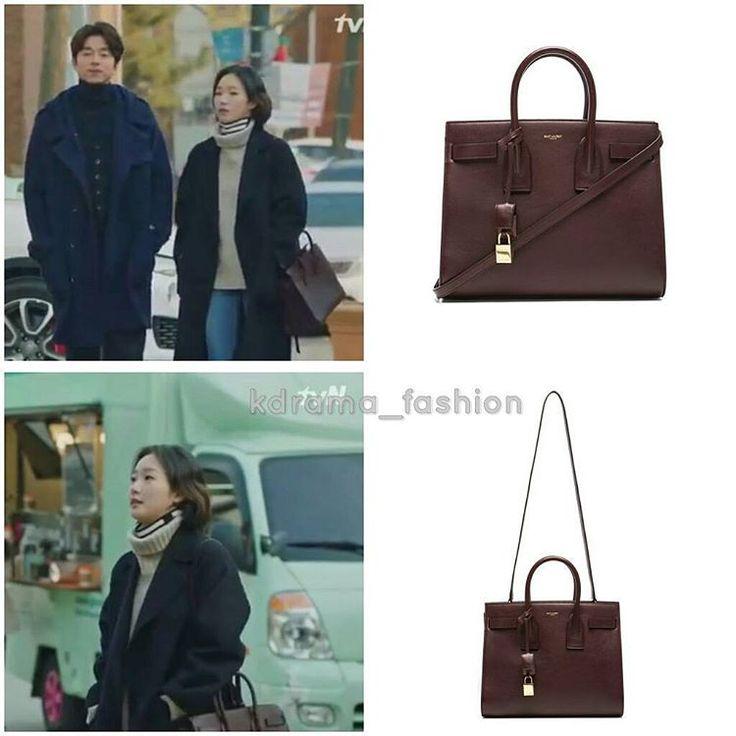 "867 lượt thích, 14 bình luận - @kdrama_fashion trên Instagram: ""Kim Go Eun carried SAINT LAURENT Small Sac De Jour Carryall Bag_Bordeaux $2,750 in Goblin Drama…"""