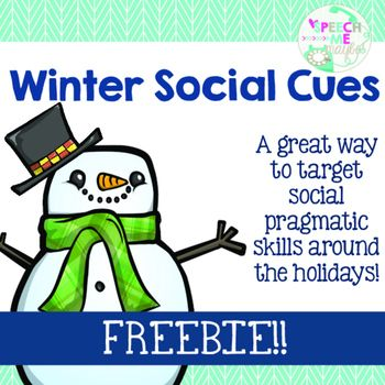 The holidays are just around the corner and that means A LOT of opportunity for social interactions. Help your students be prepared for those awkward I hate this gift! moments with this freebie!This product targets multiple pragmatic skills such as, inferences, being polite, having manners, interpreting emotions, and problem solving!
