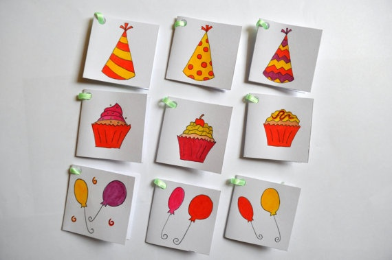 Birthday Hand-Painted Gift Tags
