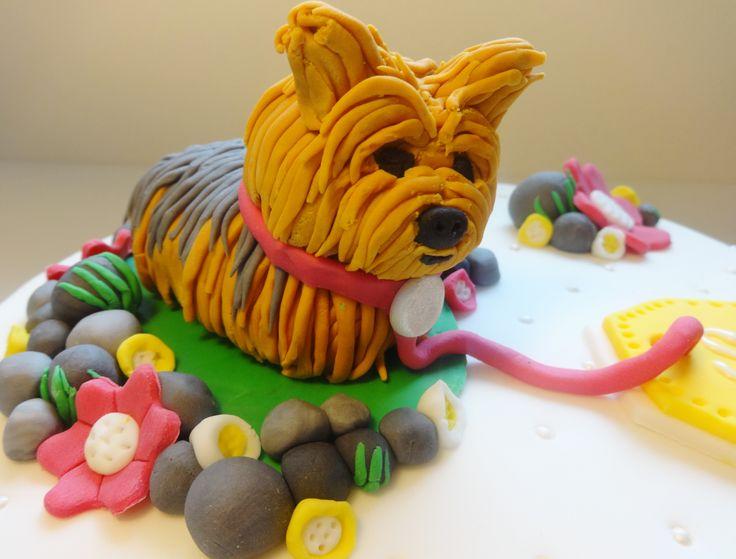 34 best Tartas fondant images on Pinterest Dog cakes Cold