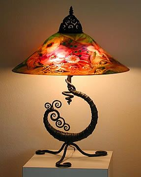 Ulla Darni - Original Lamp    This lovely artist lives 20 minutes from my home and her work is simply breathtaking... !