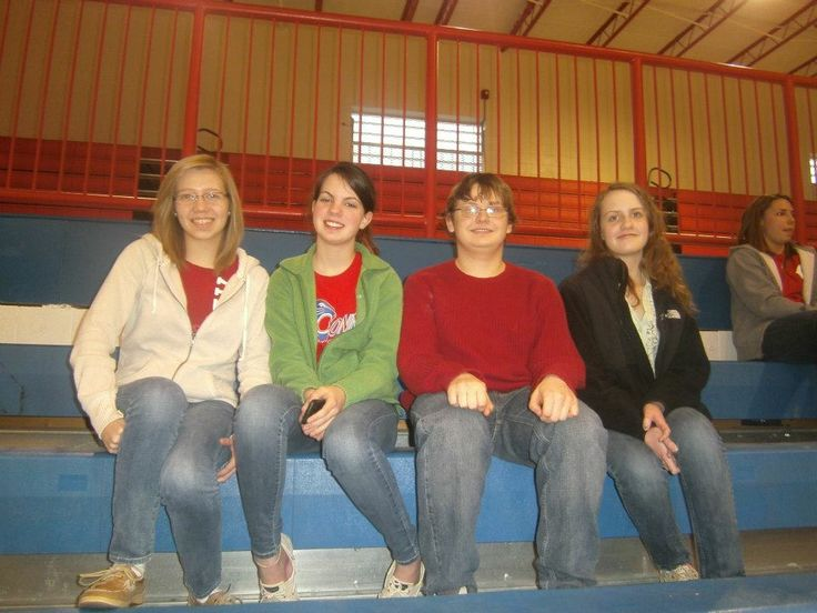 Me and Jacqueline Palamo, Amanda Adams, and Amber Clark at the Conner game