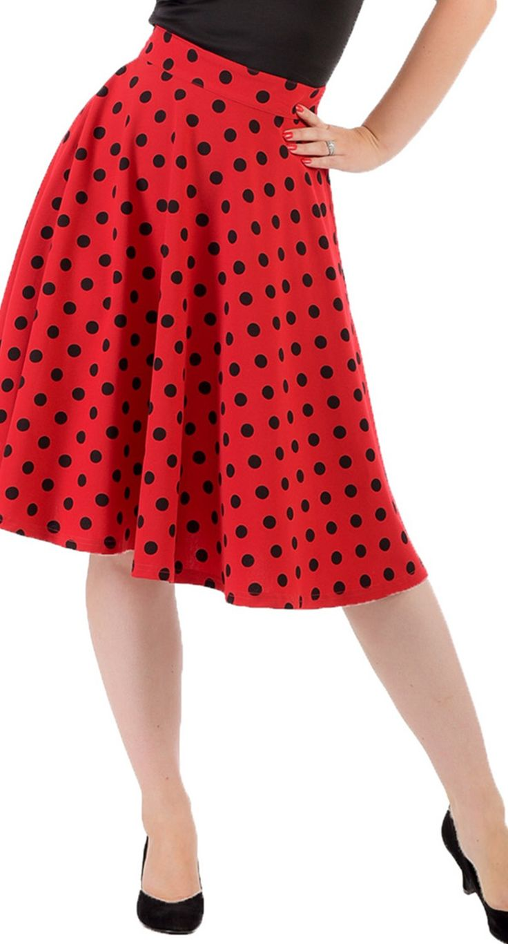 Steady Clothing Polka Dot Thrills Skirt in Red | Blame Betty