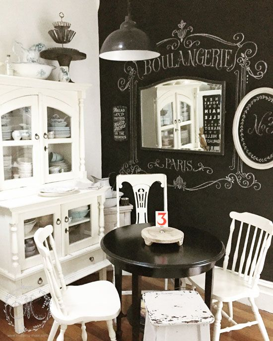 Black and white vintage style kitchen