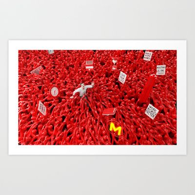 Oppression - Man Art Print by modernagestudio - $17.68