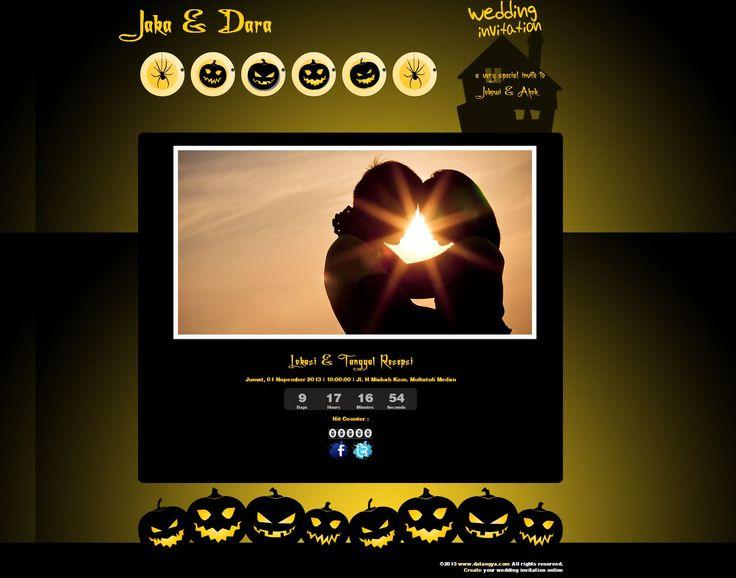 Desain undangan online dari Datangya.com khusus untuk bulan Oktober. Halloween