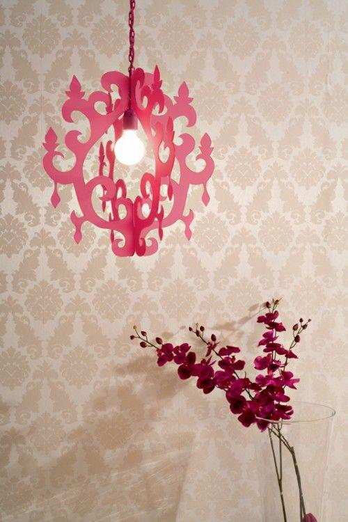 cardboard chandelier
