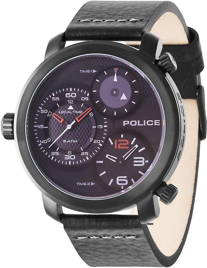 Police Gents Mamba black strap watch