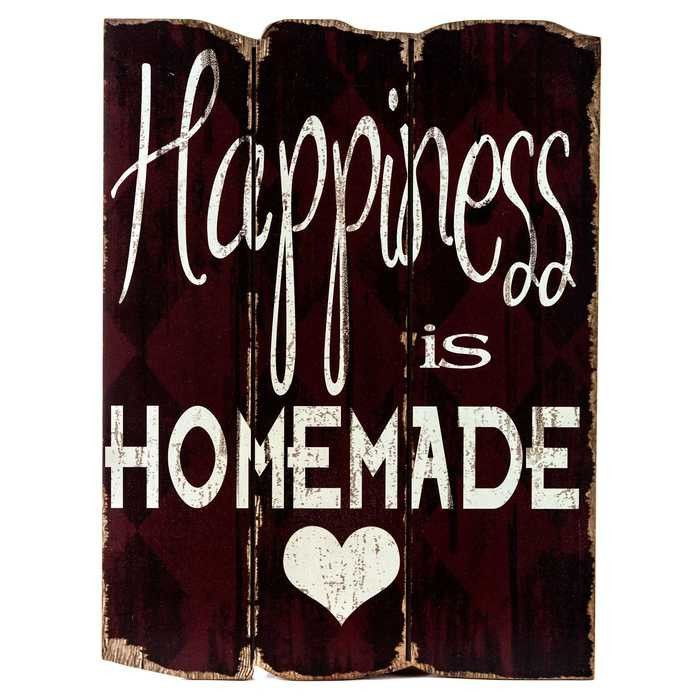 Red Happiness is Homemade Faux Wood Plank Sign