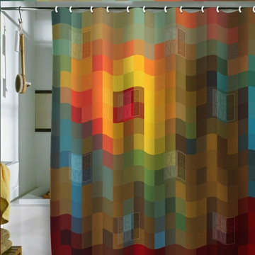 Glorious Colors Shower Curtain, $65, now featured on Fab.