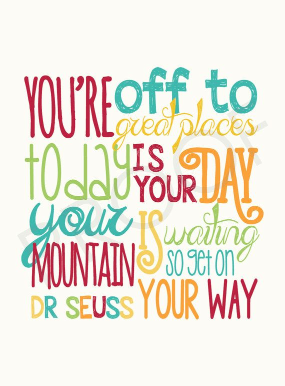 set of 8 flat notecards of Dr. Seuss Quote by ToSuchAsTheseDesigns