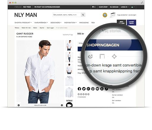 How to find Virtusize fitting solution on NLY MAN