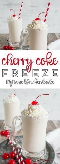 Easy Cherry Coke shake, easy to make and super refreshing!