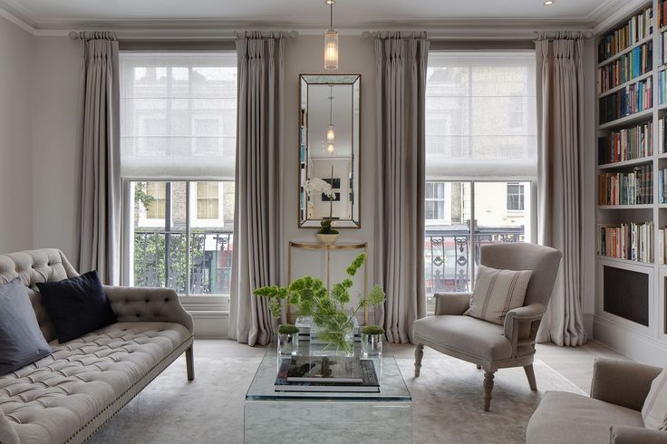 Interior Inspiration - Living Room Luxe | There's nothing more elegant than full length windows... #theloungeco #lounge #livingroom #luxe #luxury #sophisticated #glamour #sofa #chair #interiordesign #elegant #interiorinspiration #chandelier