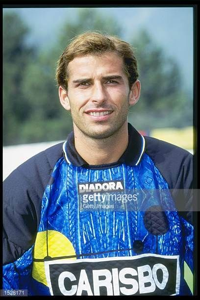 A portrait of Francesco Antomoli of Bologna taken during the club photocall Mandatory Credit Allsport UK