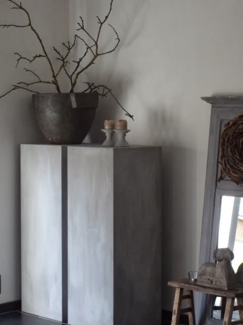 Grey walls. My new colour for painting the interior.