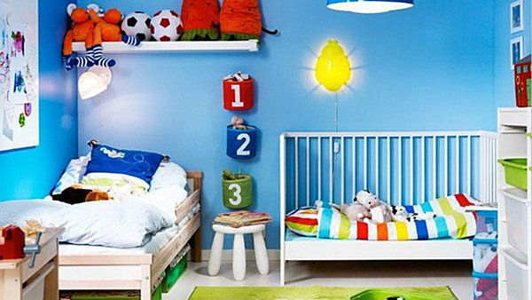 Shared boys room. Google Image Result for http://cdn.decoist.com/wp-content/uploads/2012/07/shared-boys-room-for-toddler-and-baby.jpg