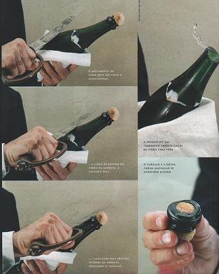 De verschillende stappen om een fles #champagne te sabreren! Probeer het zelf tijdens een activiteit! http://www.brouzje.nl/champagnesabreren