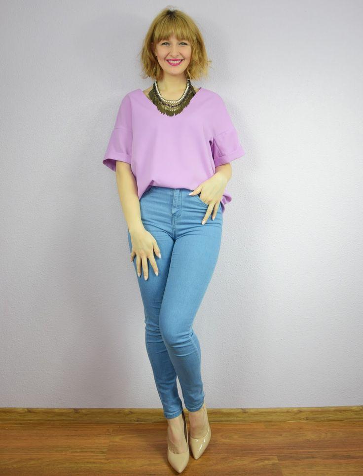 Haligashka: Klasyczna liliowa bluzka