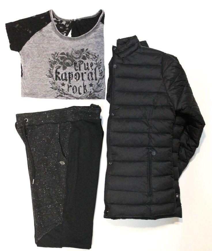 T-Shirt et Pantalon #Kaporal, Doudoune #LetempsdesCerises Au moins 3 nuances de Grey ;)  Chaque semaine nous vous proposons un nouveau look à moins de 100€ sur notre site internet !  #Ijeans #Fashion
