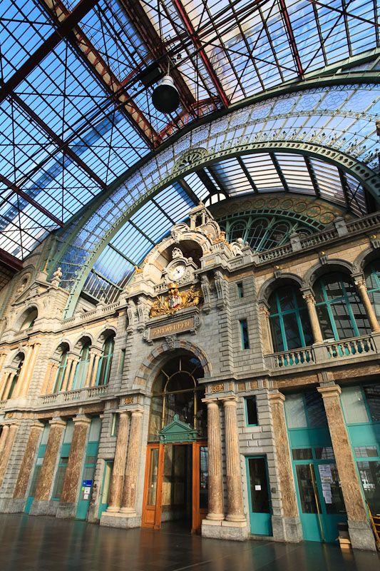 Antwerp Central, Belgian train station. #Antwerp Plan your trip to #Antwerp #Belgium visit www.cityisyours.com