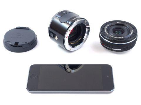 """Cortar y pegar laboratorio cámara digital: en """"estilo lanzacohetes"""" OLYMPUS AIR A01 - cámara digital reloj"""