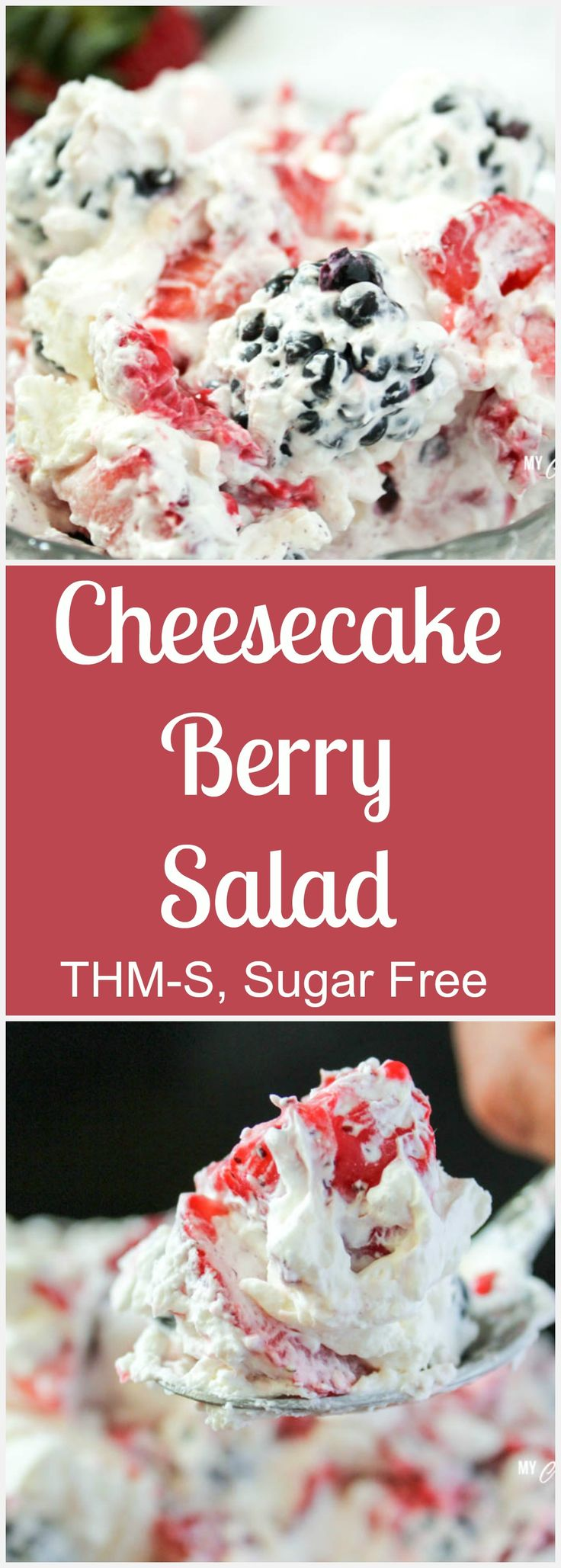 Cheesecake Berry Salad (THM-S, Sugar Free)