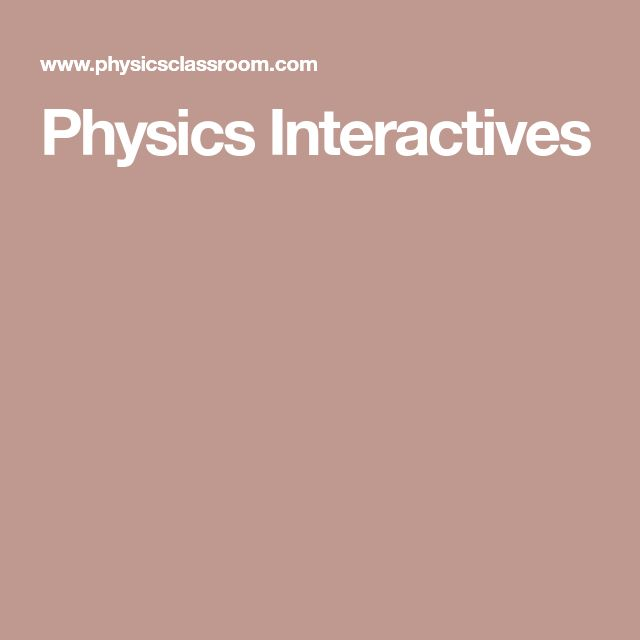 Physics Interactives