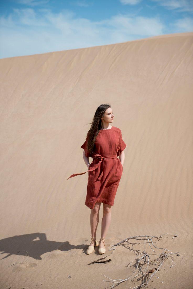 Linen Dress Motumo - 16S10 by MotumoLinen on Etsy