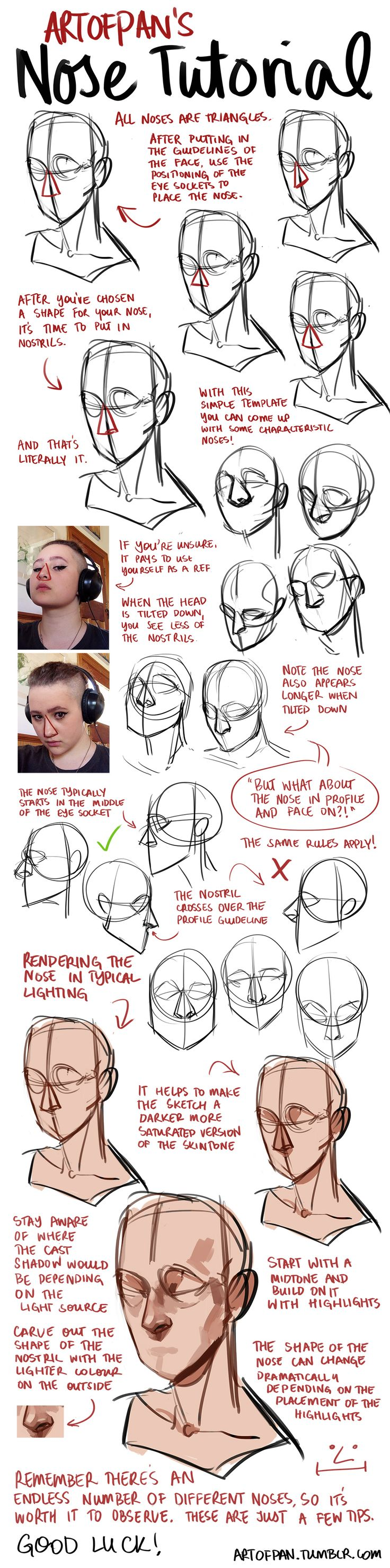 Nose Tutorial by artofpan on DeviantArt