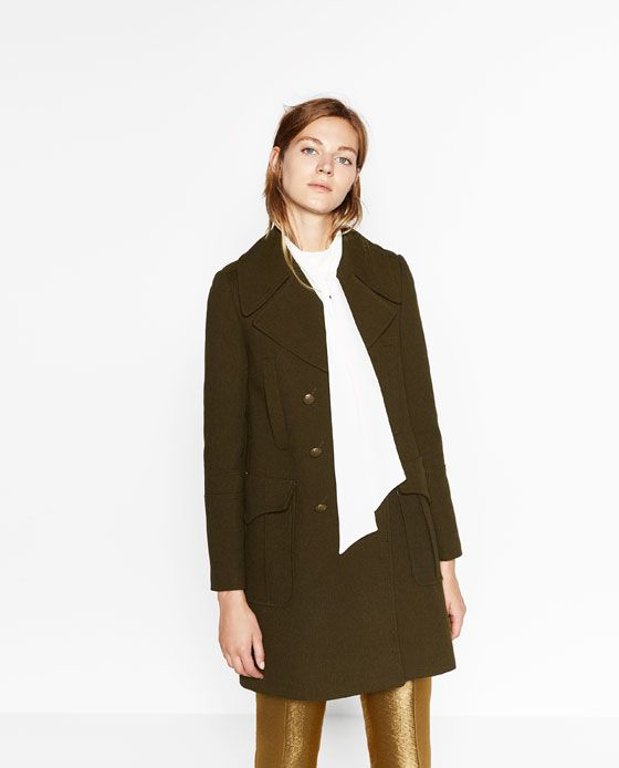 ZARA - WOMAN - MILITARY STYLE COAT