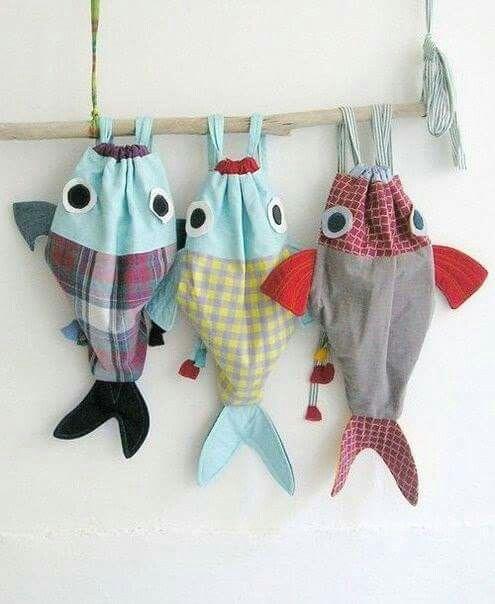 Fish Drawstring Bag