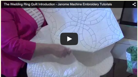 Quick preview on the video tutorial available with the Wedding Ring Quilt design set just released
