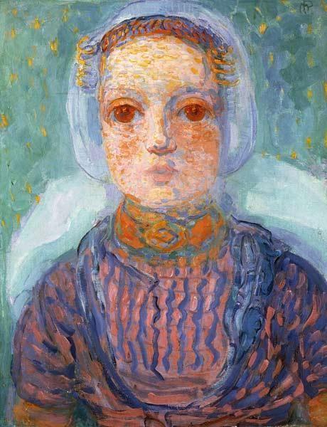 Piet Mondrian - Mädchen aus Seeland (Zeeuws Meisje)
