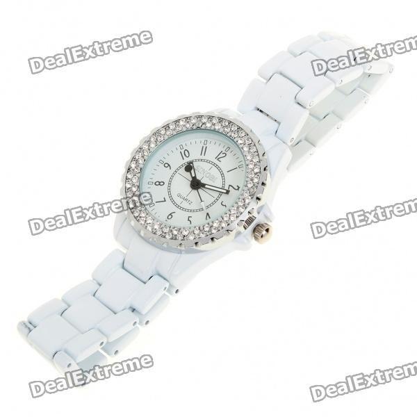 Fashion Water Resistant Quartz Wrist Watch with Crystal(1x626)