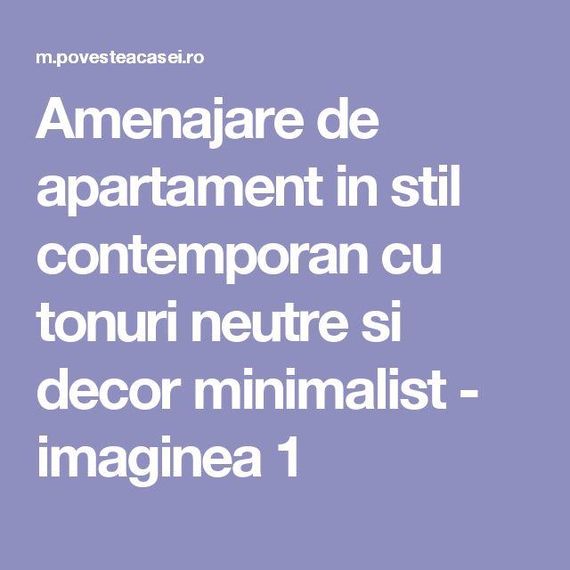 Amenajare de apartament in stil contemporan cu tonuri neutre si decor minimalist - imaginea 1