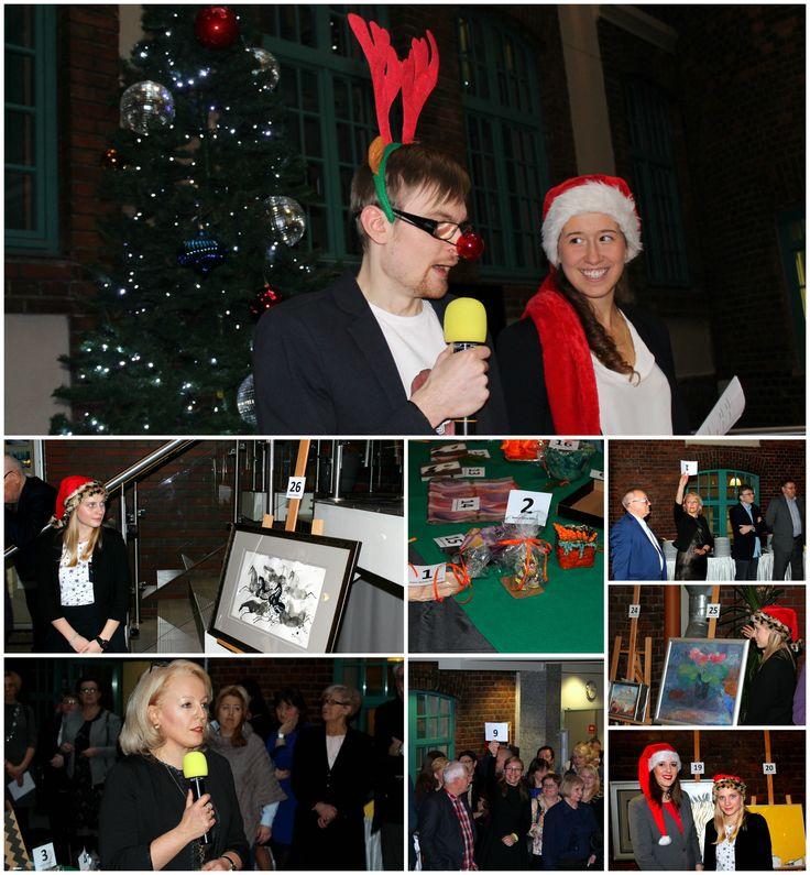 W ramach corocznego uroczystego spotkania świąteczno-noworocznego, tradycyjnie już odbyła się aukcja charytatywna, podczas której można było wylicytować prace wykonane przez pracowników, studentów oraz zaprzyjaźnionych z Uczelnią artystów m.in. Mistrza Józefa Wilkonia.