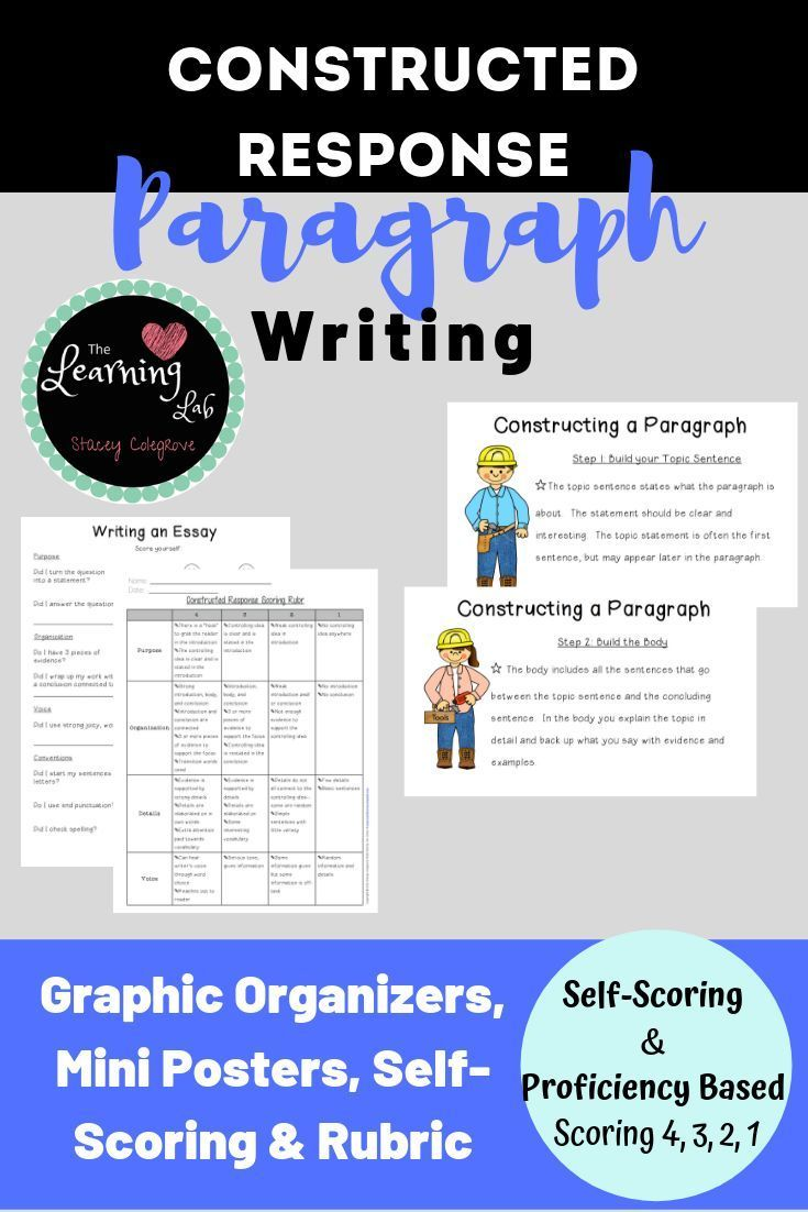 Help Young Writers Organize Their Paragraph Writing Essay Responses With A Constructed Res Constructed Response Teaching Paragraph Writing Teaching Paragraphs