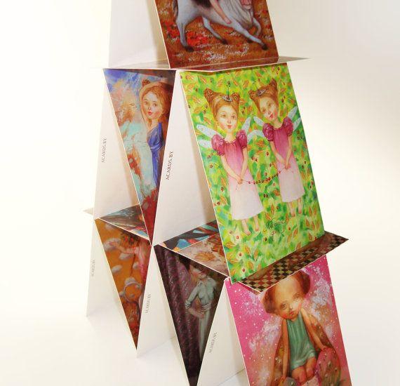 Set of 12 card Art postcards set blank postcard by ArtFable