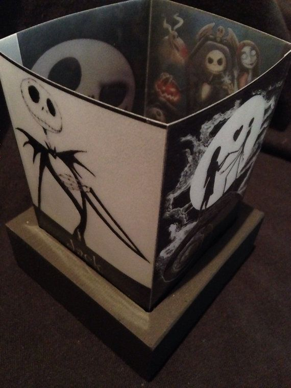 Nightmare Before Christmas Luminary Lamp by CherylsCreativeBlock |  Skellington | Pinterest | Jack skellington - Nightmare Before Christmas Luminary Lamp By CherylsCreativeBlock